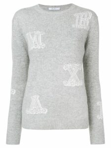 Max Mara Vetro jacquard-knit jumper - Grey