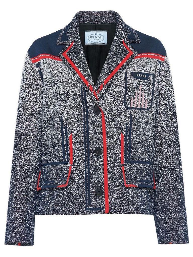 Prada Technical mouliné jacquard jacket - Blue