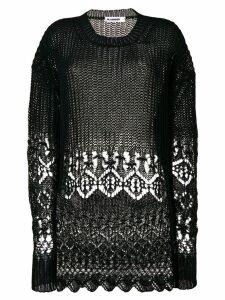 Jil Sander crochet jumper - Black