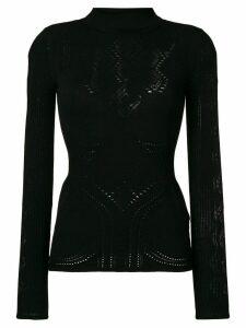 Roberto Cavalli roll neck sweater - Black