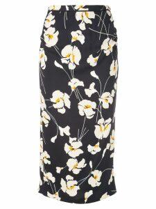 Nº21 floral print midi skirt - Black