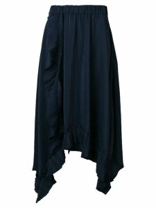 P.A.R.O.S.H. asymmetric pleated trim skirt - Blue