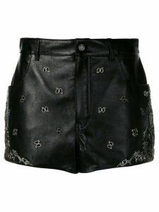 Saint Laurent embroidered mini skirt - Black