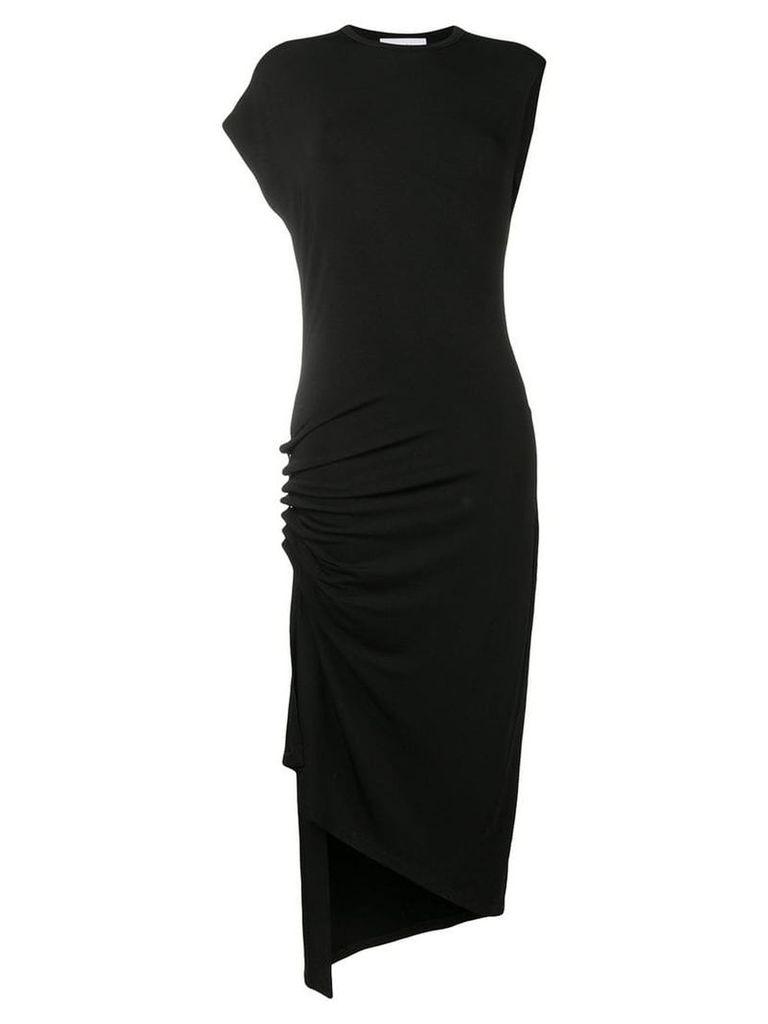 Paco Rabanne draped asymmetric dress - Black