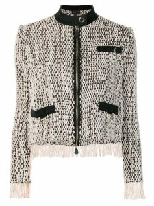 Giorgio Armani zipped woven jacket - Neutrals