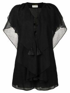 Saint Laurent batwing sleeve kaftan dress - Black