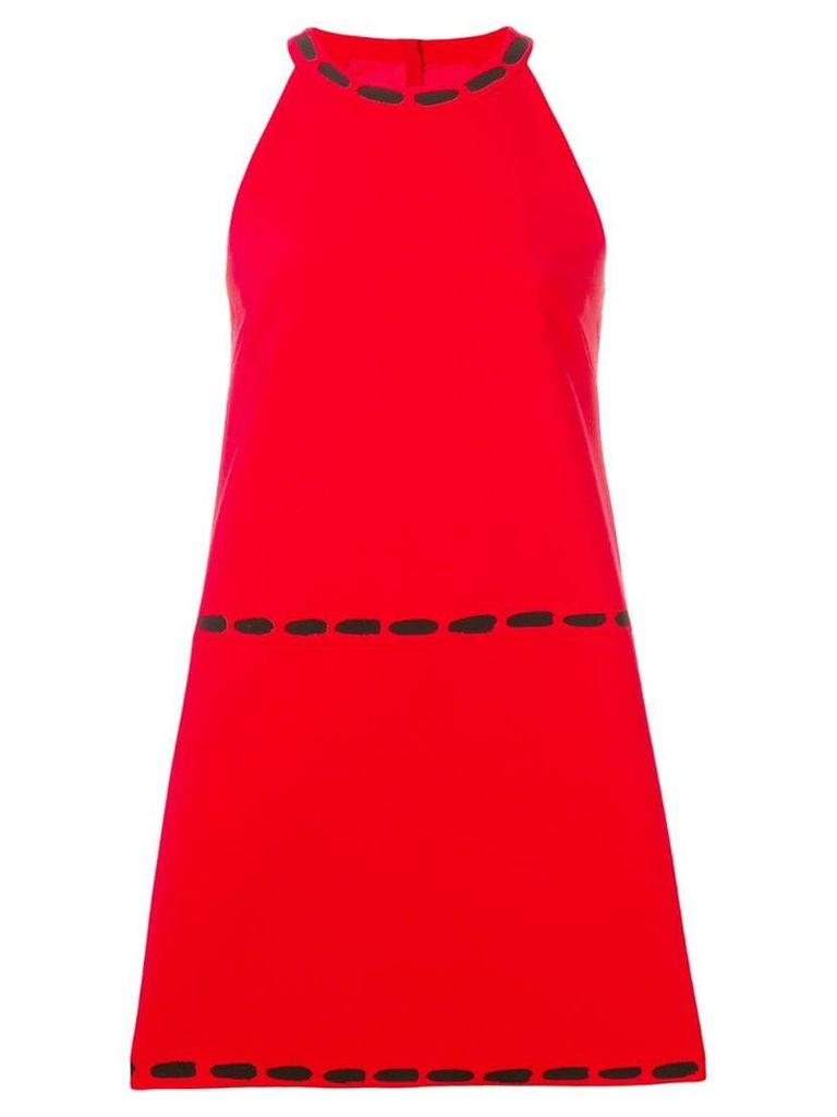 Moschino halter neck shift dress - Red