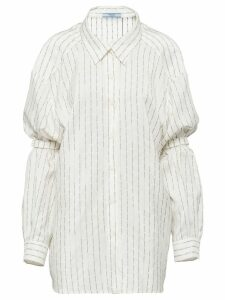 Prada Pongé shirt with shoulder straps - White