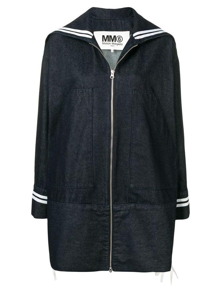 Mm6 Maison Margiela denim raincoat - Blue