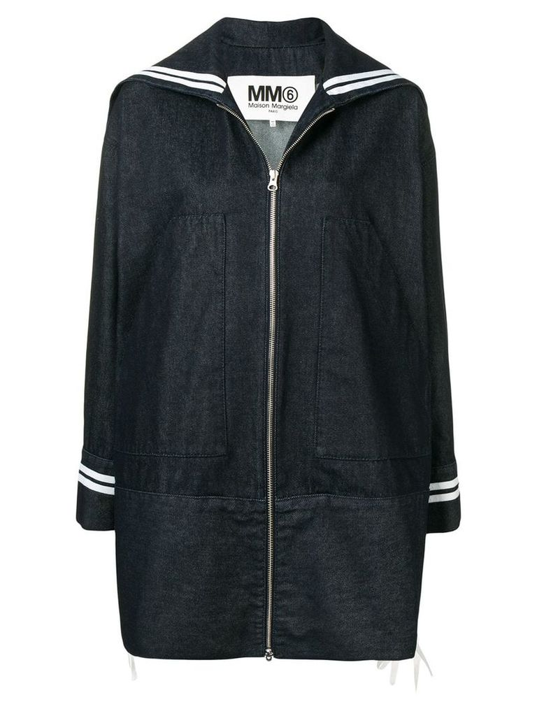 Mm6 Maison Margiela denim raincoat - Blue