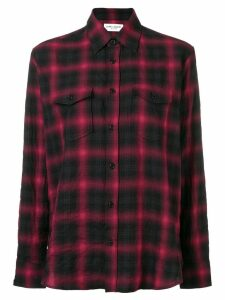 Saint Laurent checked shirt - Red