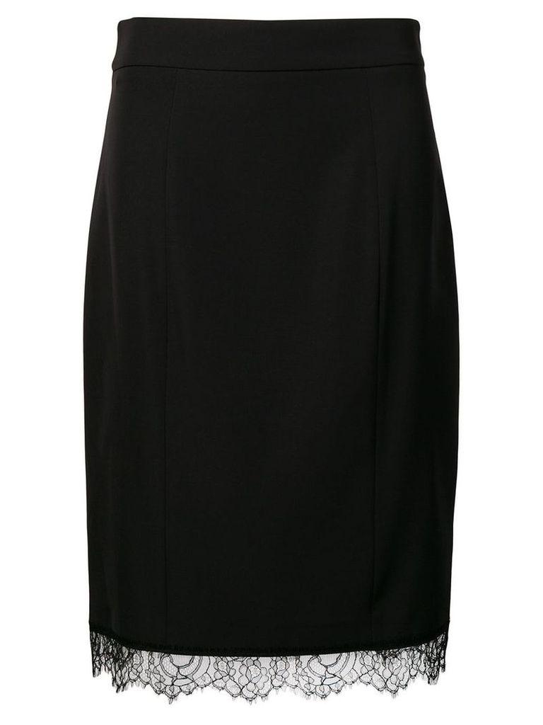 Blumarine scalloped lace hem skirt - Black
