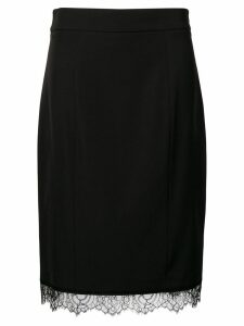 Blumarine scalloped lace hem skirt - Black