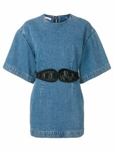 Christopher Kane lace crotch denim dress - Blue