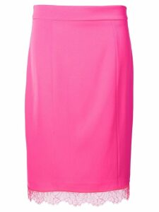 Blumarine scalloped lace hem skirt - Pink