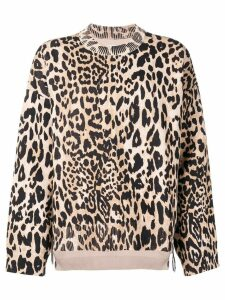 Paco Rabanne leopard fine knit sweater - Brown