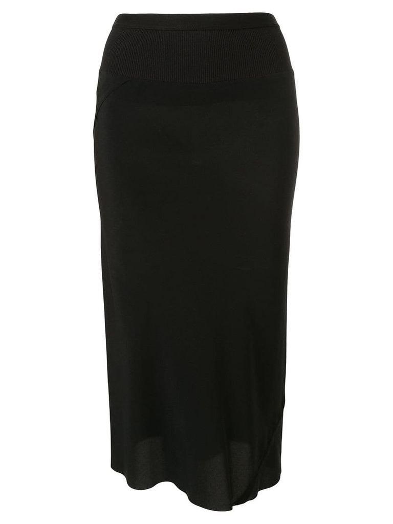 Rick Owens high waisted pencil skirt - Black