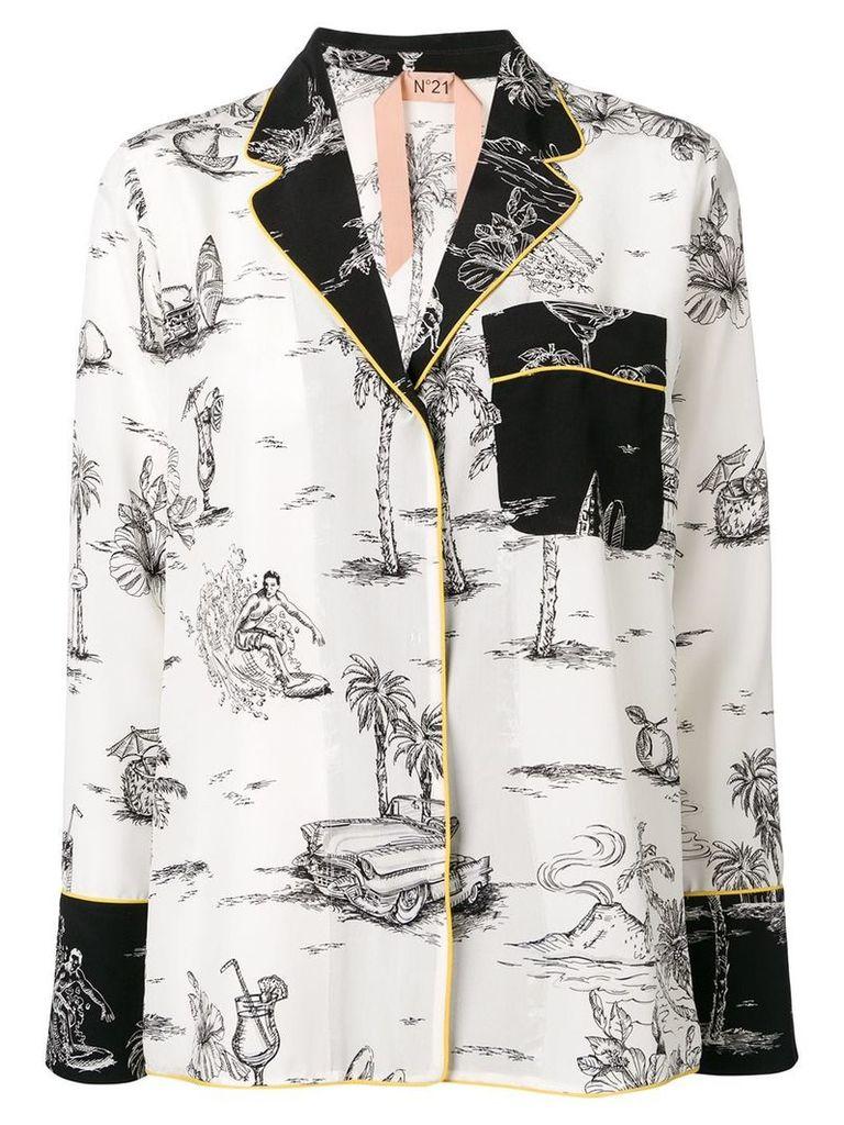 Nº21 holiday print shirt - White