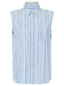Prada sleeveless striped blouse - Blue