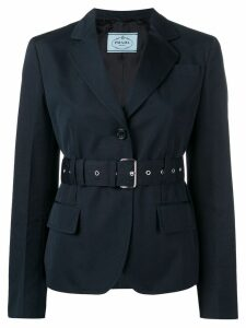 Prada belted single-breasted blazer - Blue