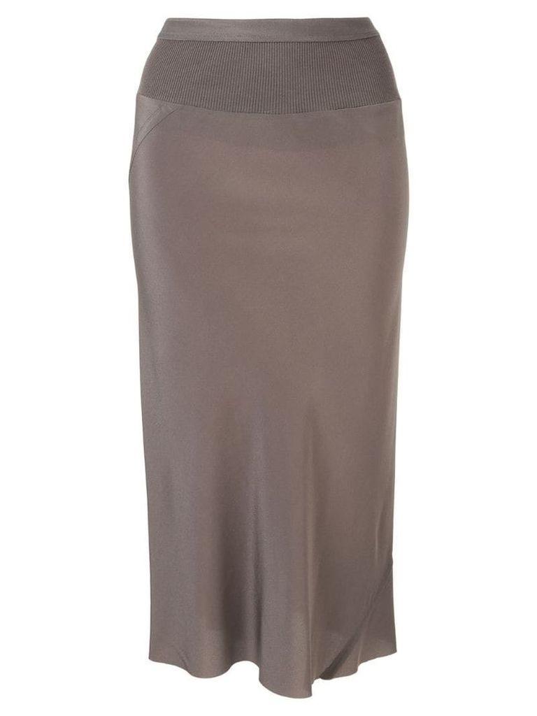 Rick Owens slim-fit pencil skirt - Grey