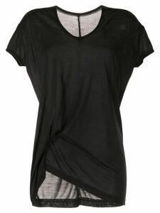 Rick Owens asymmetric short-sleeve T-shirt - Black