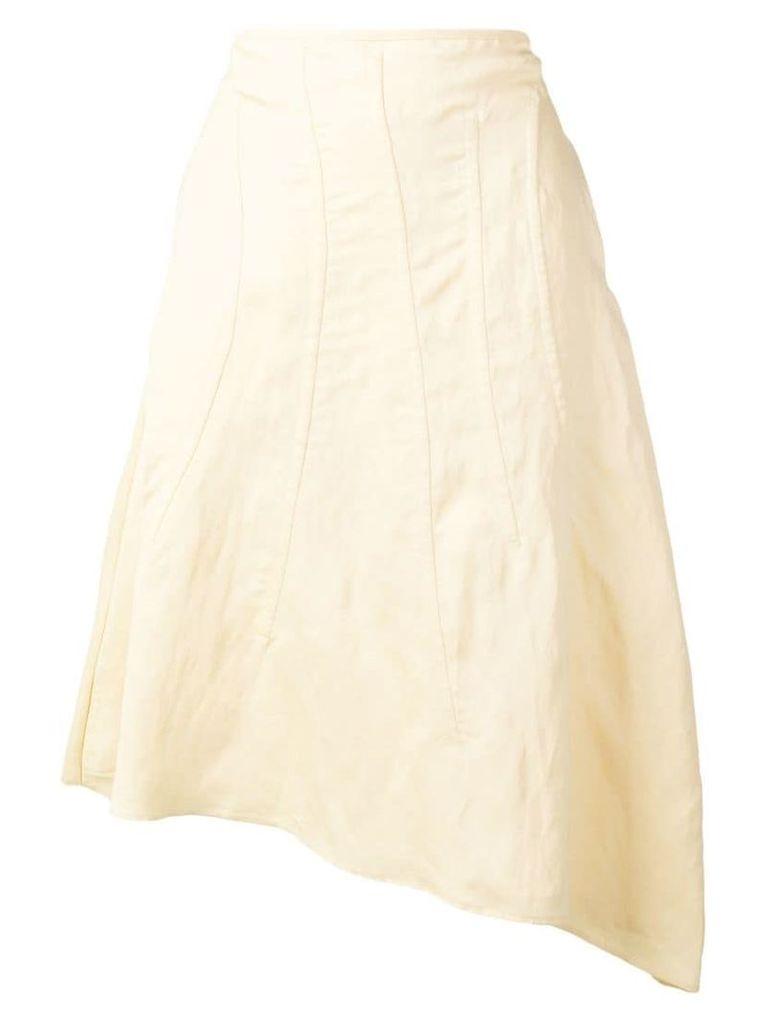 Jil Sander asymmetric midi skirt - Neutrals