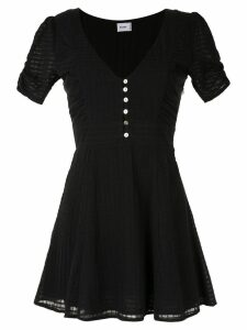Suboo deep V neck mini dress - Black