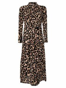 Baum Und Pferdgarten leopard print midi shirt dress - Brown
