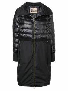 Herno quilted panel coat - Black