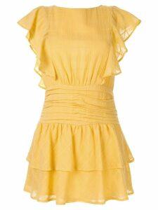 Suboo ruffled mini dress - Yellow