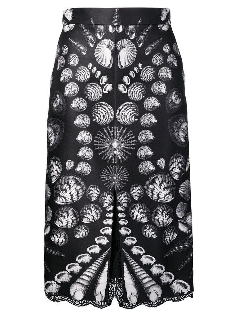 Alexander McQueen shell print skirt - Black