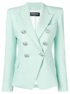Balmain button-embellished blazer - Green