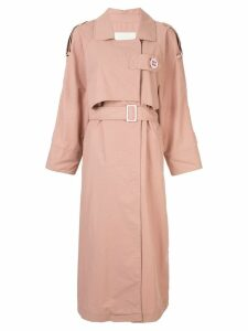 Walk Of Shame belted trench coat - Pink