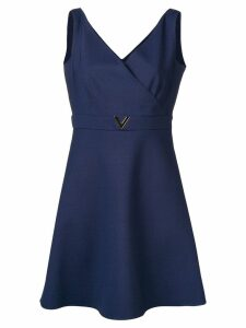 Valentino V belt dress - Blue
