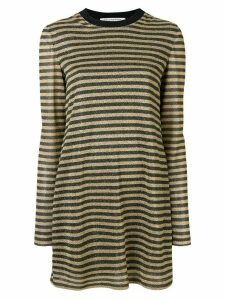Philosophy Di Lorenzo Serafini striped flared dress - Gold
