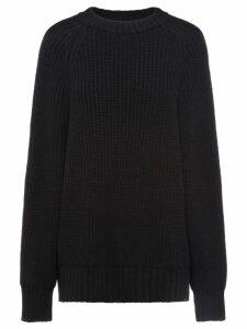Prada ribbed oversized jumper - Black