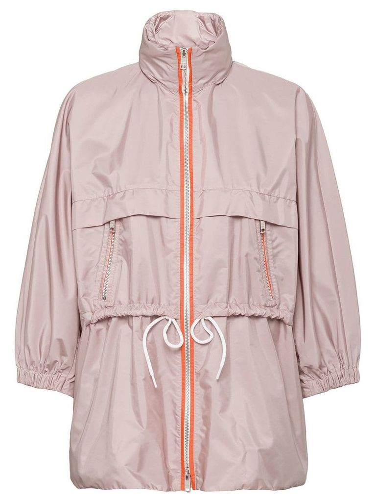 Prada feather nylon rain coat - Neutrals