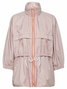 Prada feather nylon rain coat - Neutrals