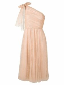 Red Valentino one shoulder tulle dress - Neutrals