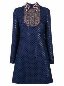 Valentino sequinned polka dot dress - Blue