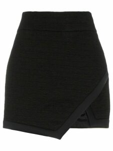 Alexandre Vauthier wrap front miniskirt - Black