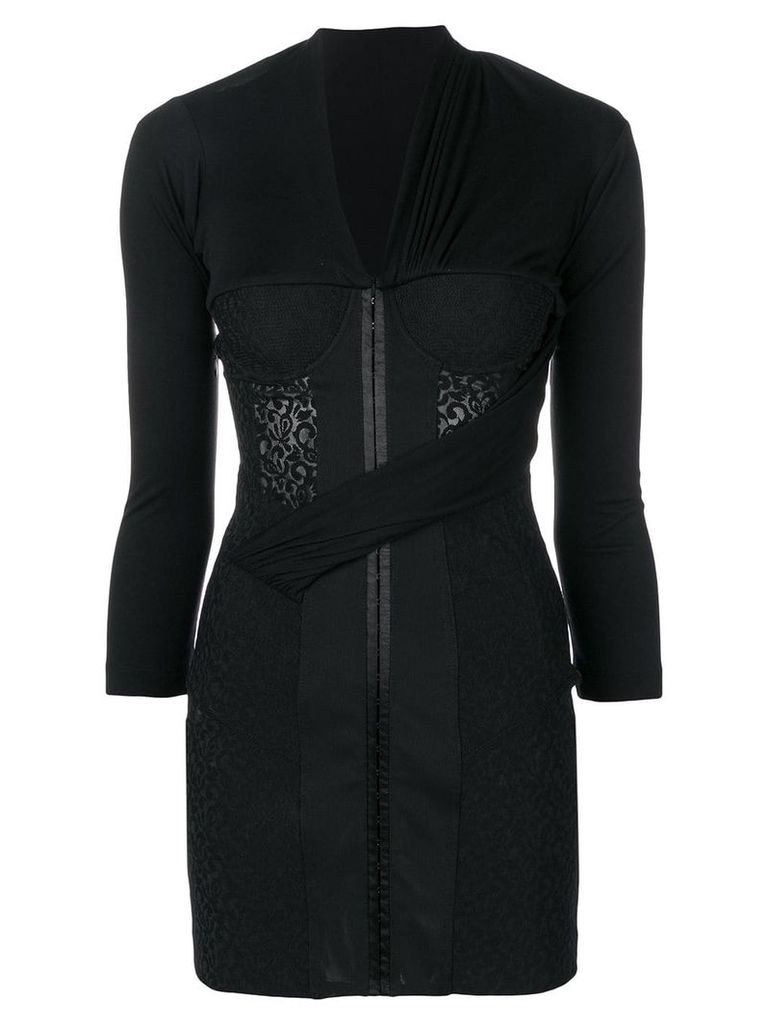 Alexander Wang fitted bodice mini dress - Black
