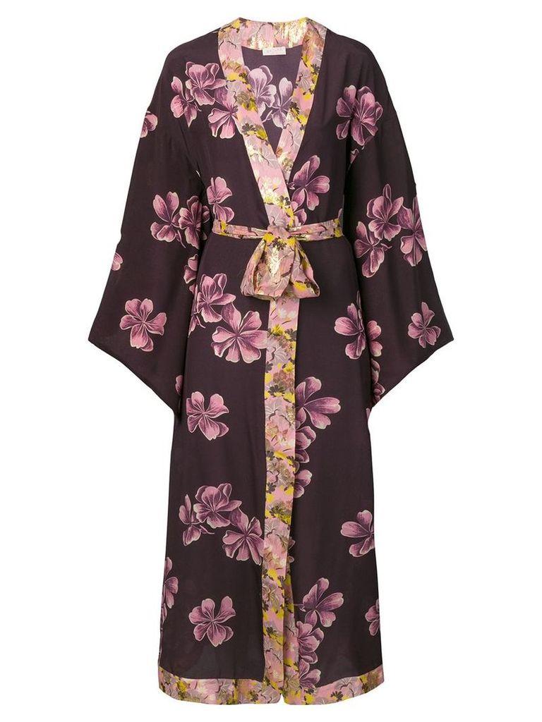 Anjuna long printed kimono - Purple