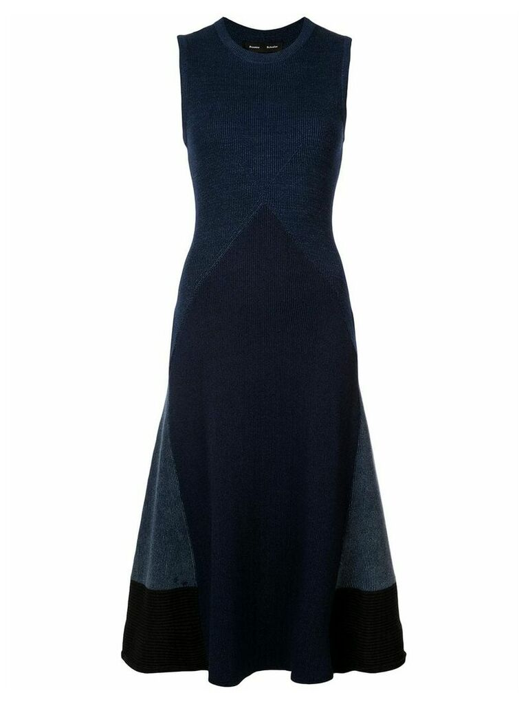 Proenza Schouler Pieced Rib Knit Dress - Blue