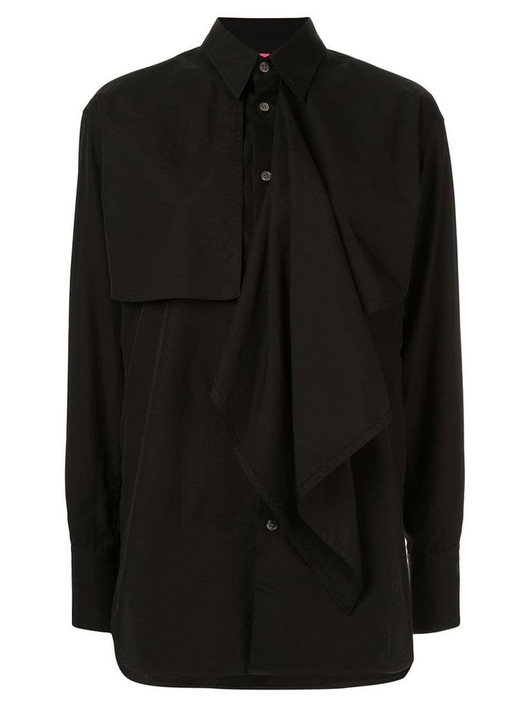 Y's layered front shirt - Black