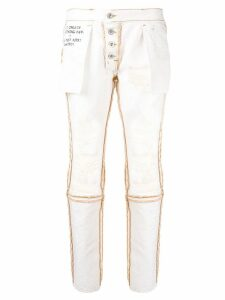 Unravel Project reversed distressed jeans - White