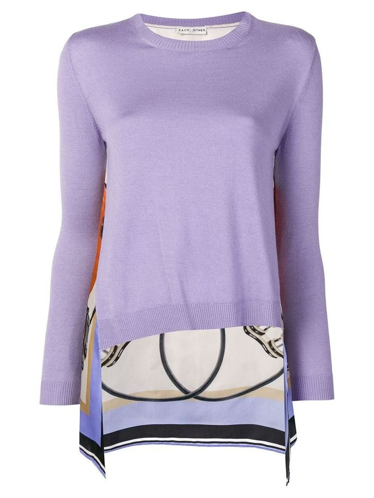 Each X Other scarf back jumper - Purple