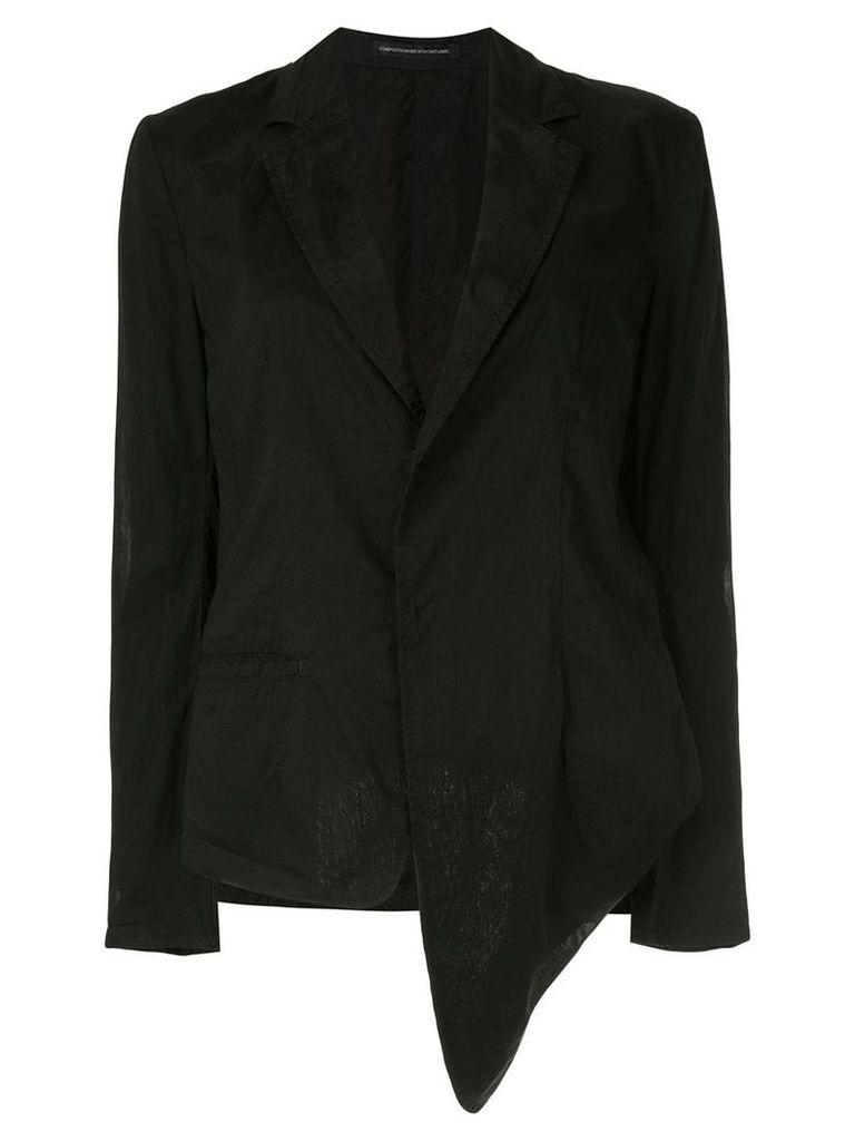 Y's asymmetric blazer - Black