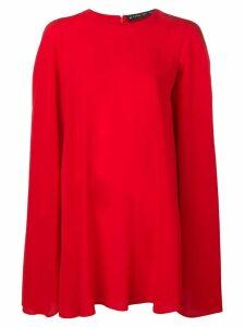 Etro short cape dress - Red
